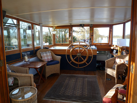 Wheelhouse view through double doors