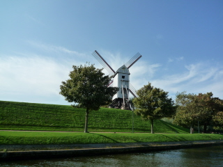 Approaching Brugge - Windmill