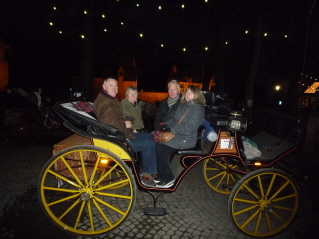 Carriage ride with Sue and Ian