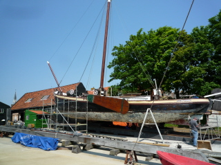 Wooden ship restoration