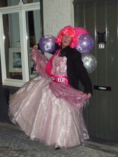 Carol in hen night regalia