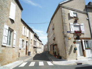 Typical street, old Langres