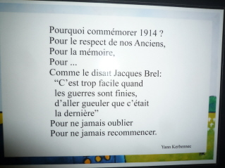 Vichy Museum, pacifist poetry