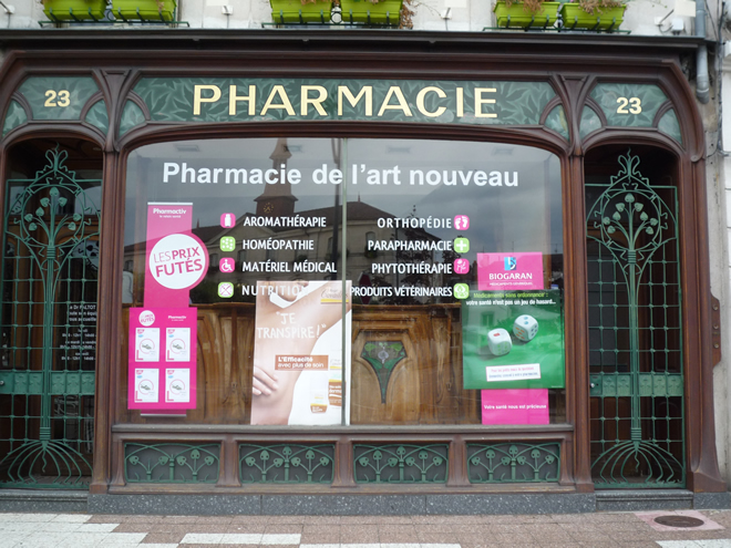 Art Nouveau pharmacy in Commercy
