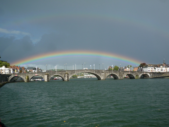 Rainbow at Namur, Pont de Jambes